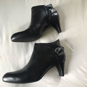 Cole Haan Booties , black with croc style strap, 8
